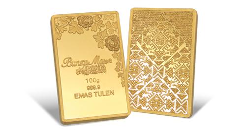 Jom Simpan Emas Public Gold Goldbar Bunga Mas 100g