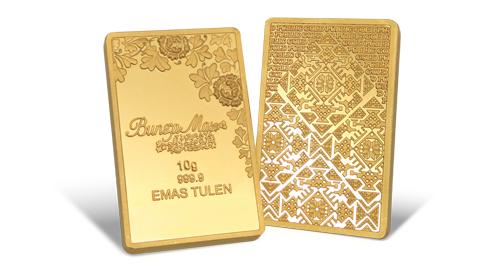Jom Simpan Emas Public Gold Goldbar Bunga Mas 10g