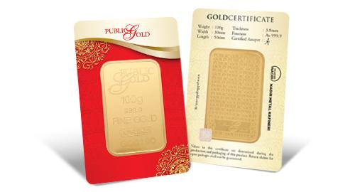 Jom Simpan Emas Public Gold Goldbar LBMA 100g