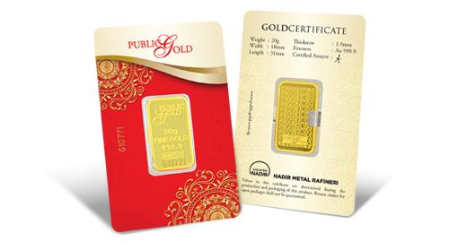Jom Simpan Emas Public Gold Goldbar LBMA 20g