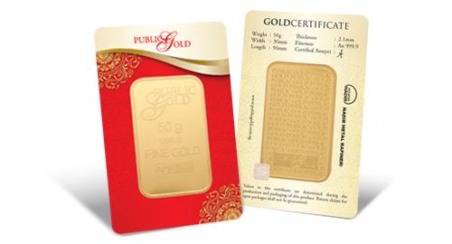 Jom Simpan Emas Public Gold Goldbar LBMA 50g