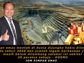 Bekalan emas habis 30 tahun lagi